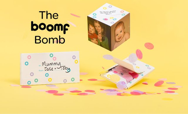 Boomf exploding confetti cards and personalised marshmallows for boomf bomb m4hsunfo